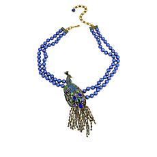 "Heidi Daus ""Let Down Your Feathers"" Beaded Crystal Drop Necklace"