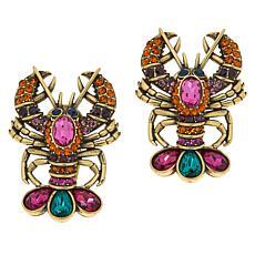 """Heidi Daus """"Lobster Tail"""" Crystal Earrings"""