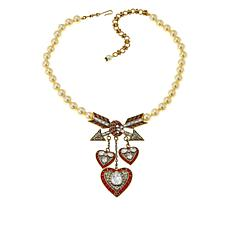 "Heidi Daus ""Lots of Love"" Crystal Heart Drop Necklace"