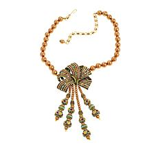 "Heidi Daus ""Magnificent Pavé Ribbon"" Drop Necklace"