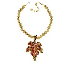 """Heidi Daus """"Many Hues of Autumn"""" Pendant and Beaded Necklace"""