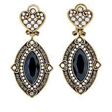 """Heidi Daus """"Marquise of Chic"""" Crystal Drop Earrings"""