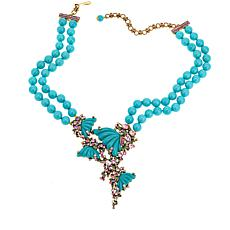 "Heidi Daus ""Monarch Magnificence"" Beaded Drop Necklace"