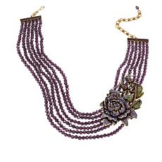 "Heidi Daus ""Moody Hues"" 6-Strand Beaded Crystal Station Necklace"