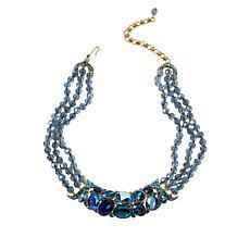 Heidi Daus Multi-Color Crystal X-Design Collar Necklace