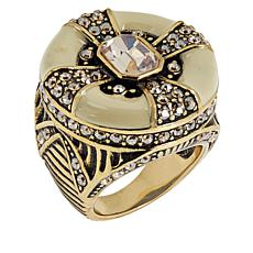 "Heidi Daus ""Newport Chic II"" Crystal and Enamel Ring"