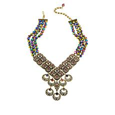 "Heidi Daus ""O-Ace's"" Beaded Crystal Drop Necklace"