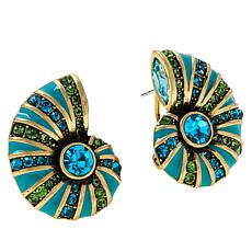"Heidi Daus ""Ocean Blooms"" Crystal Button Earrings"