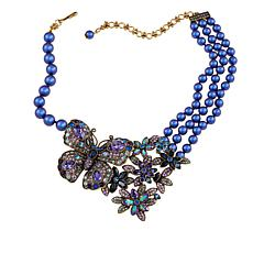 "Heidi Daus ""Painted Princess"" Beaded Crystal Drop Necklace"