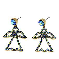 "Heidi Daus ""Peace on Earth"" Crystal Drop Earrings"
