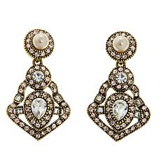 "Heidi Daus ""Power and Poised"" Crystal Drop Earrings"