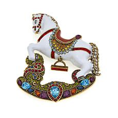 "Heidi Daus ""Pretty Pony"" Enamel and Crystal Pin"