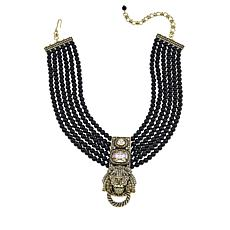 "Heidi Daus ""Pride of the Jungle"" Beaded 6-Strand Drop Necklace"