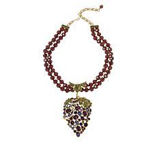 "Heidi Daus ""Que Shiraz"" Big Grapes Crystal Beaded Necklace"