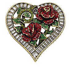 "Heidi Daus ""Queen of Hearts"" Crystal Pin"