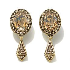 "Heidi Daus ""Queen of the Jungle"" Crystal Drop Earrings"