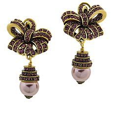 "Heidi Daus ""Ravishing Ribbon"" Crystal Drop Earrings"