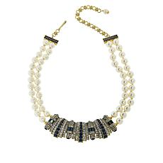 "Heidi Daus ""Refined Elegance"" 2-Strand Crystal Drop Necklace"