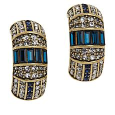 "Heidi Daus ""Refined Elegance"" Crystal Hoop Earrings"