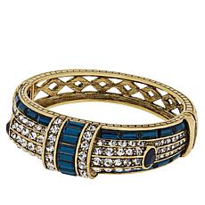 "Heidi Daus ""Refined Elegance"" Hinged Crystal Bangle Bracelet"