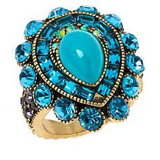 "Heidi Daus ""Refined Luxury"" Pear-Shaped Crystal Ring"