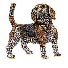 "Heidi Daus ""Regal Beagle"" Crystal Pin"