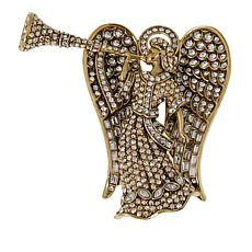 "Heidi Daus ""Rock of Angels"" Crystal Pin"