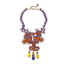 "Heidi Daus ""Royal Waterhorse"" Beaded Drop Necklace"