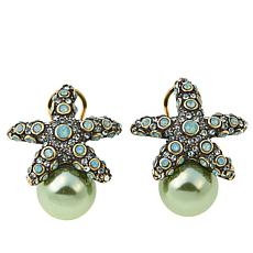 "Heidi Daus ""Sea-ing Stars"" Crystal Earrings"