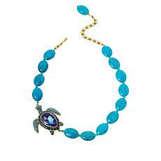 "Heidi Daus ""Sea Worthy Turtle"" Crystal Beaded Necklace"