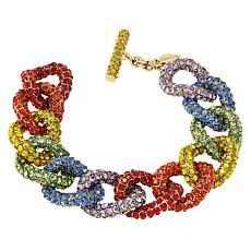"Heidi Daus ""Send Me a Link"" Multi-Color Crystal Bracelet"