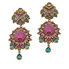 "Heidi Daus ""Shangri-La"" Crystal Drop Earrings"
