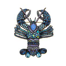 "Heidi Daus ""Shellfishly Stunning"" Crystal Lobster Pin"