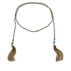 Heidi Daus Skinny Tassel Lariat Necklace
