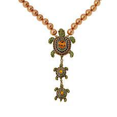 "Heidi Daus ""Slowpoke"" Crystal Turtle-Design Beaded Necklace"