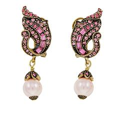 "Heidi Daus ""Sophisticated Solution"" Crystal-Accented Drop Earrings"