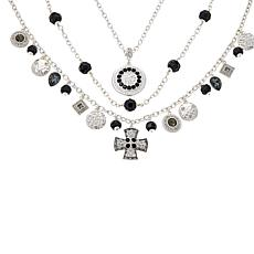 """Heidi Daus """"Sophisticated Swag"""" 3-piece Chain-Link Necklace Set"""