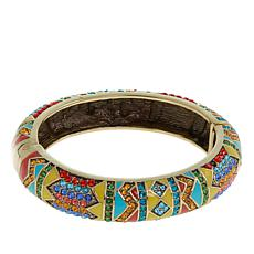 "Heidi Daus ""Southwest Twist"" Crystal and Enamel Bangle Bracelet"