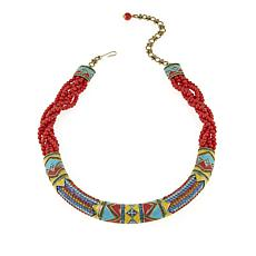 "Heidi Daus ""Southwest Twist"" Crystal and Enamel Torsade Necklace"