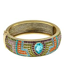 "Heidi Daus ""Sparkling Solution"" Crystal-Accented Bangle Bracelet"