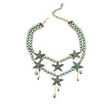 "Heidi Daus ""Sparkling Starfish"" Crystal Double-Strand Beaded Necklace"