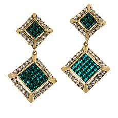 """Heidi Daus """"Spectacular"""" Crystal Drop Earrings"""