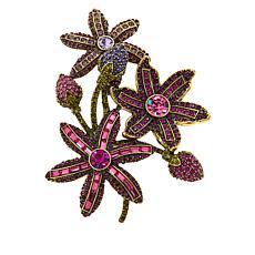 "Heidi Daus ""Spring Bouquet"" Crystal Brooch"