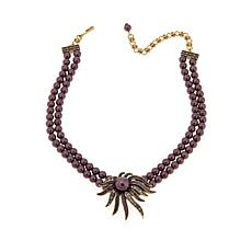 "Heidi Daus ""Sublime Star"" 2-Strand Beaded Drop Necklace"