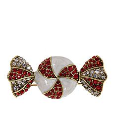 "Heidi Daus ""Sugar-Free Sparkler"" Enamel and Crystal Pin"
