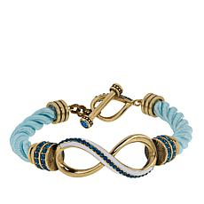 "Heidi Daus ""Summer Breeze"" Crystal-Accented Cord Bracelet"