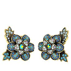 "Heidi Daus ""Sweet Nothing"" Crystal Floral Earrings"