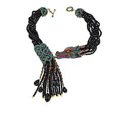 "Heidi Daus ""That Something Special"" Beaded Tassel Drop Necklace"