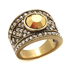 "Heidi Daus ""The Daily Double"" Crystal Band Ring"