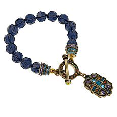 "Heidi Daus ""The Deco Trilogy"" Beaded Toggle Bracelet"